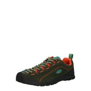 KEEN Sportovní šněrovací boty 'JASPER'  tmavě zelená / oranžová