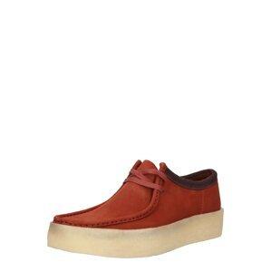 Clarks Originals Sportovní šněrovací boty 'Wallabee'  burgundská červeň / červená