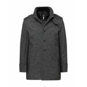 SELECTED HOMME Přechodný kabát  tmavě šedá / bílá