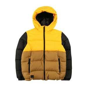 ICEPEAK Outdoorová bunda 'KIRKMAN'  světle hnědá / limone / černá