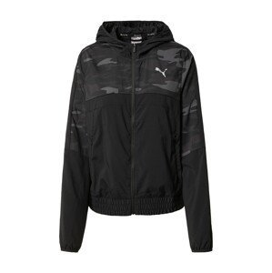 PUMA Sportovní bunda  černá / bílá / grafitová