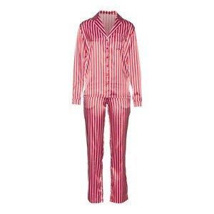 LASCANA Pyžamo  pink / bílá