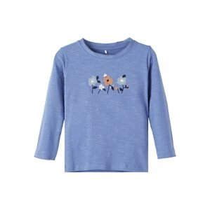NAME IT Tričko 'Regina'  nebeská modř / námořnická modř / světlemodrá / bílá / starorůžová
