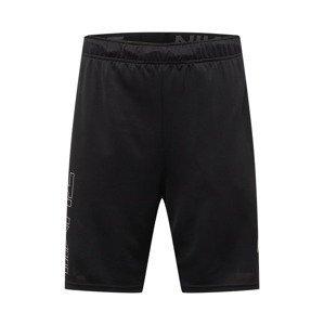 NIKE Sportovní kalhoty  černá / šedá / bílá