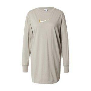 Nike Sportswear Šaty  šedá / bílá / hořčicová / stříbrně šedá