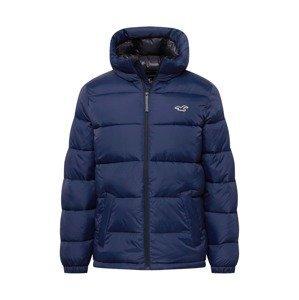 HOLLISTER Zimní bunda  námořnická modř / bílá