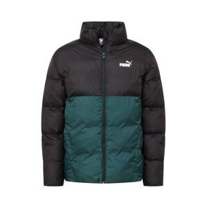 PUMA Zimní bunda  smaragdová / černá / bílá