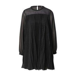 Le Temps Des Cerises Koktejlové šaty  černá / stříbrná