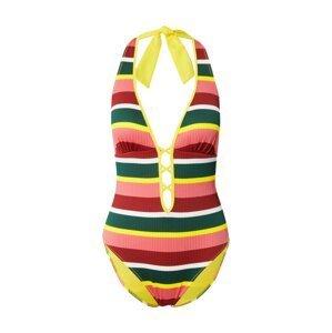 OVS Plavky  smaragdová / pitaya / bílá / červená / svítivě žlutá