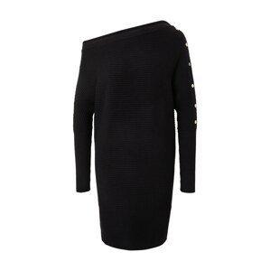 River Island Úpletové šaty  černá