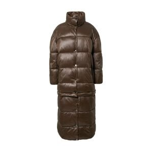 River Island Zimní kabát  tmavě hnědá