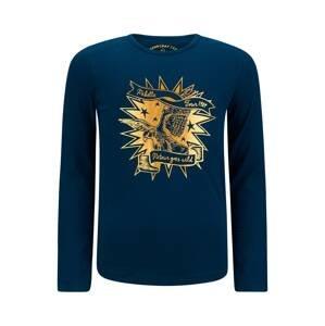 Retour Jeans Tričko 'Koosje'  tmavě modrá / zlatě žlutá