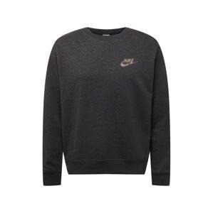 Nike Sportswear Mikina  černý melír / mix barev