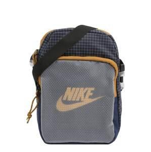 Nike Sportswear Taška přes rameno 'Heritage 2.0'  námořnická modř / tmavě modrá / medová / šedá