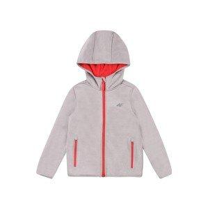 4F Přechodná bunda  šedá / červená