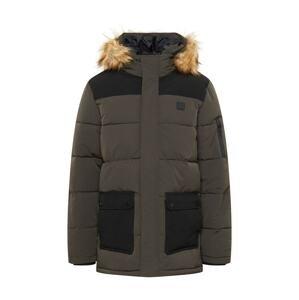 INDICODE Zimní bunda 'Many'  šedobéžová / tmavě šedá