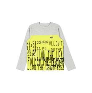 4F Funkční tričko  světle šedá / černá / limone