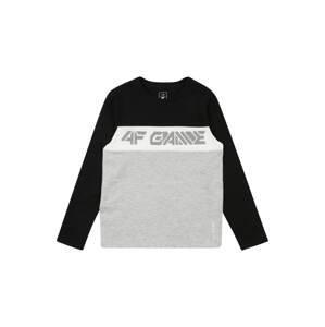 4F Funkční tričko  černá / světle šedá / bílá