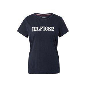 Tommy Hilfiger Underwear Tričko na spaní  tmavě modrá / bílá