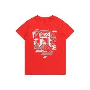 4F Funkční tričko  červená / bílá / šedá