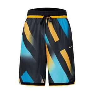 NIKE Sportovní kalhoty  černá / světlemodrá / žlutá