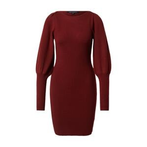 FRENCH CONNECTION Úpletové šaty 'JOSS'  krvavě červená