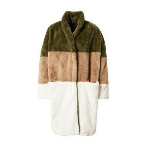 FRENCH CONNECTION Přechodný kabát 'IZO'  bílá / světle hnědá / olivová