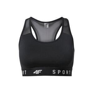 4F Sportovní podprsenka  černá / bílá