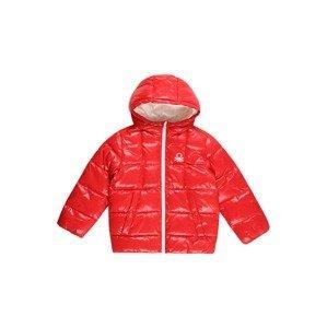 UNITED COLORS OF BENETTON Přechodná bunda  světle červená / bílá