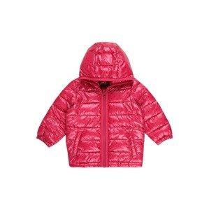 UNITED COLORS OF BENETTON Zimní bunda  pink / černá