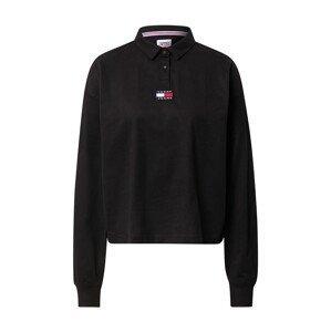 Tommy Jeans Tričko  černá / bílá / noční modrá / červená