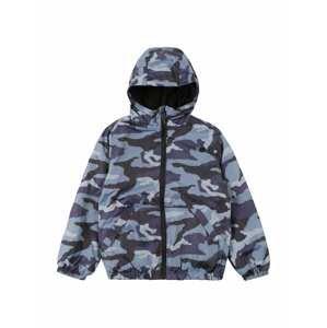 OVS Přechodná bunda  černá / kouřově modrá / námořnická modř / světle šedá