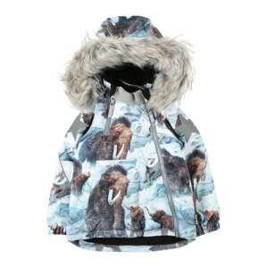 Molo Zimní bunda 'Hopla Fur'  mix barev / světlemodrá