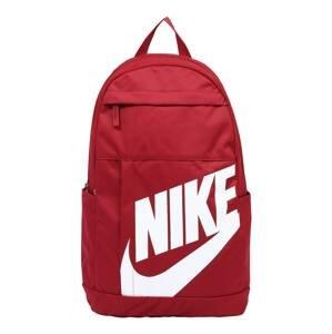 Nike Sportswear Batoh 'Elemental'  červená / bílá
