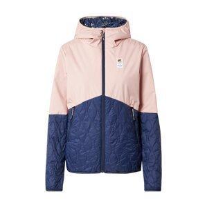 Maloja Outdoorová bunda 'WaldlaubsängerinM.'  růžová / marine modrá
