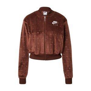 Nike Sportswear Přechodná bunda  bronzová / bílá