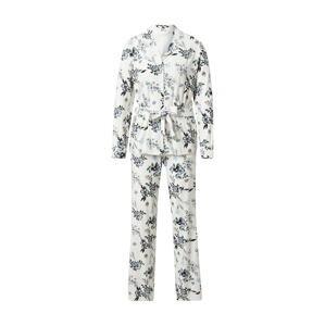 SCHIESSER Pyžamo  krémová / zelená / světlemodrá / černá