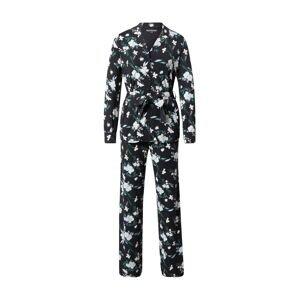 SCHIESSER Pyžamo  černá / světlemodrá / růžová / zelená / bílá