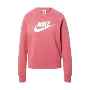 Nike Sportswear Mikina 'ESSNTL'  bílá / růže