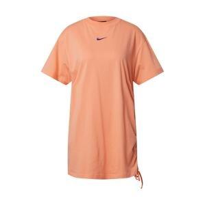 Nike Sportswear Šaty 'W NSW ESSNTL DRESS PRNT'  oranžově červená