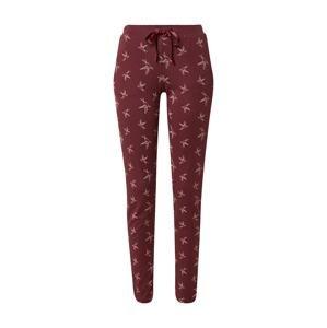 SCHIESSER Pyžamové kalhoty ' Mix+Relax '  vínově červená / světle růžová / červená