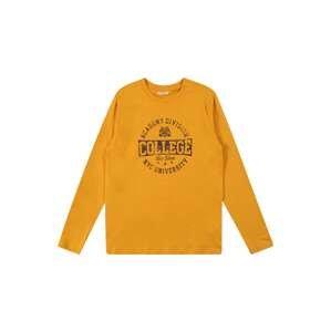 OVS Tričko  oranžová / černá