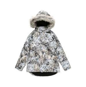 Molo Zimní bunda 'Cathy'  světle šedá / světle hnědá / nebeská modř / černá