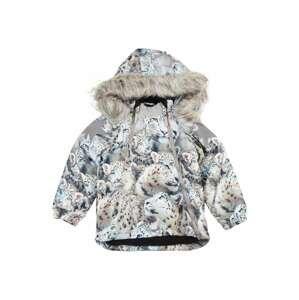 Molo Zimní bunda 'Hopla'  kouřově šedá / světle hnědá / nebeská modř / černá
