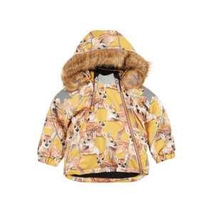 Molo Zimní bunda 'Hopla'  žlutá / béžová / šedá