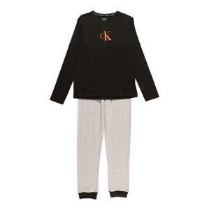 Calvin Klein Underwear Pyžamo  šedá / černá / červená