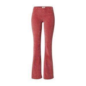 Free People Kalhoty  pastelově červená
