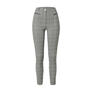 Tally Weijl Kalhoty 'BENGALINE'  šedý melír / bílá / černá