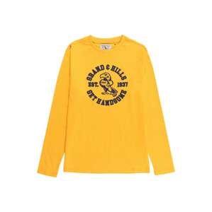 OVS Tričko  zlatě žlutá / námořnická modř