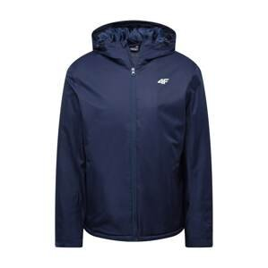 4F Outdoorová bunda  námořnická modř / bílá